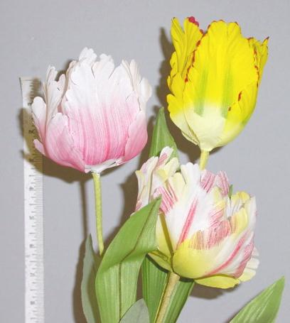 Parrot Tulip -- You'll need to feel it to tell they are not real home d