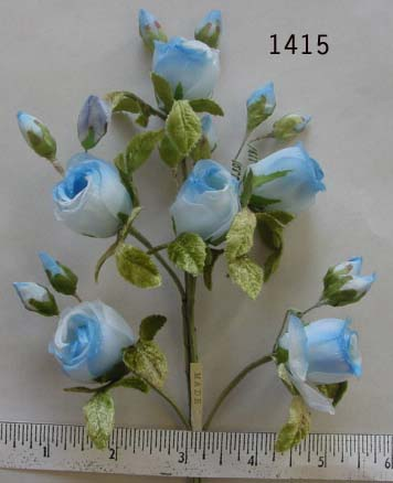 Vintage Rose Bud spray by 6 with buds