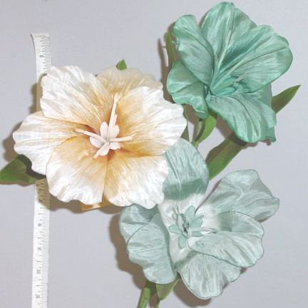 Silk Double Petal Hibiscus Blossom millinery supply