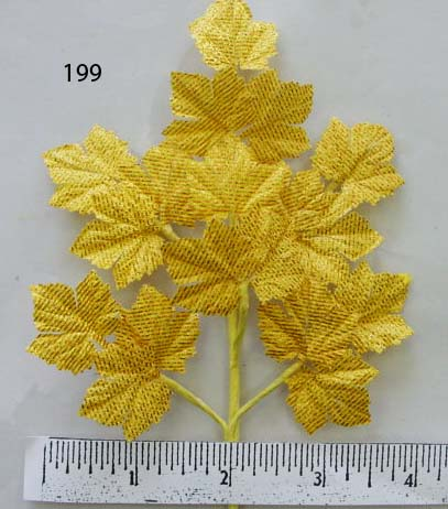 Gold Lame Grape Leaf Spray