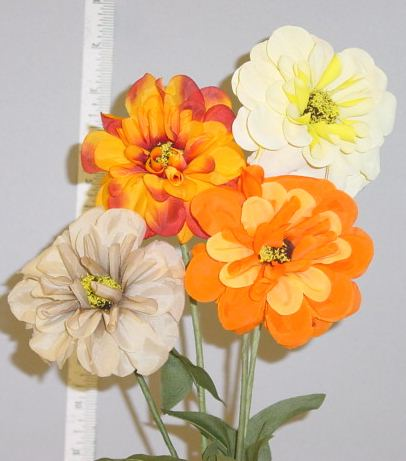Zinnia  --  Handcrafted in Czechoslovakia millinery supply