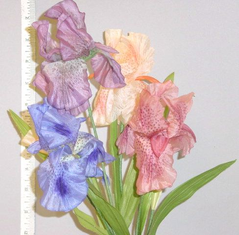 Silk Double Petal Iris & Bud millinery supply
