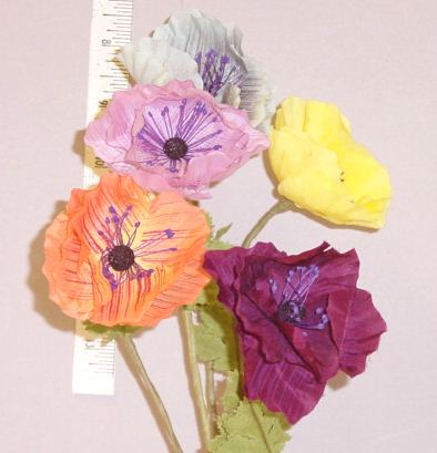 Amemone  Handcrafted in Czechoslovakia display flower millinery supply