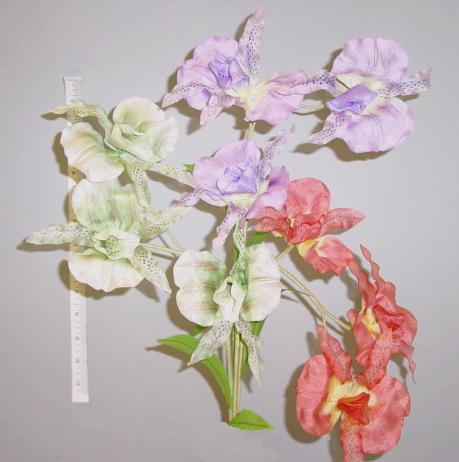 Double Petal silk Orchid --  German crafted hat trim