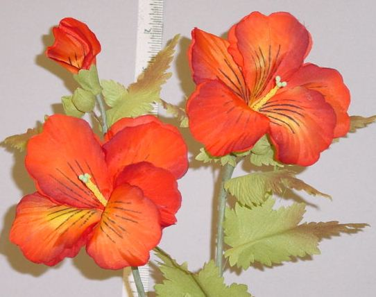 Nasturtium by 2 with buds made in Chechoslosvakia home d