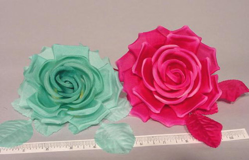 Silk Rose hat trim