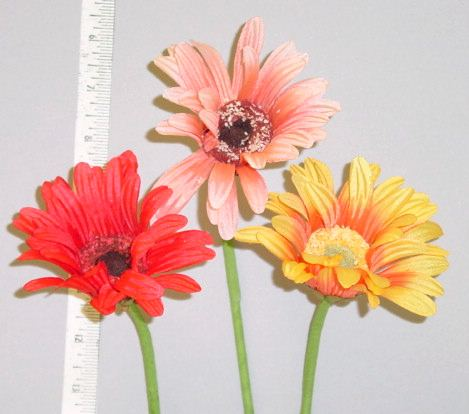 Silk Gerber Daisy   From Thailand  hat trim