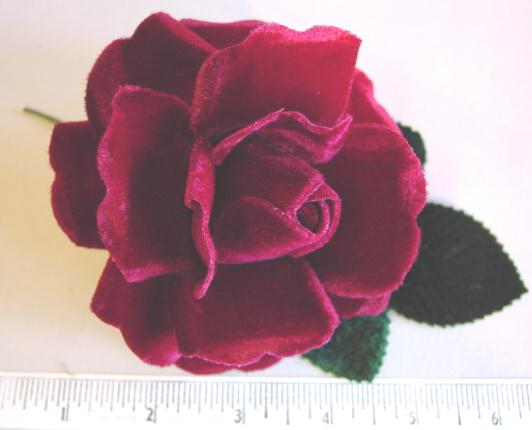 Velvet Rose & Bud hat trim