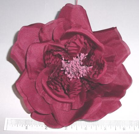 Large Flat Silk Rose for dress manufacturer