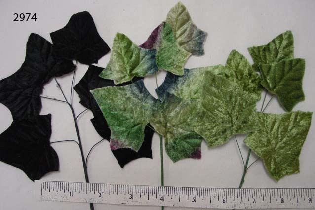 Velvet Ivy Leaf millinery supply
