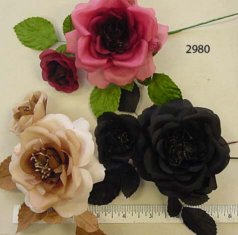 Silk & Velvet Rose & Bud