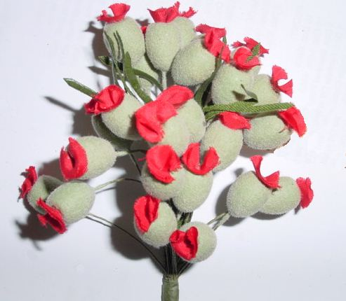 98123 Poppy Bud Made in Gremany millinery supply