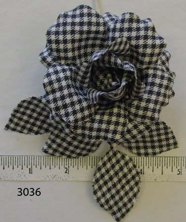 Black & White Houndstooth for millinery