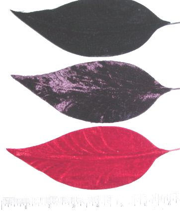 Large Velvet Leaf millinery supply trim