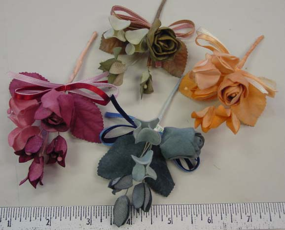 Rose Bud Cluster & Ribbon from Thailand  for hair accessory
