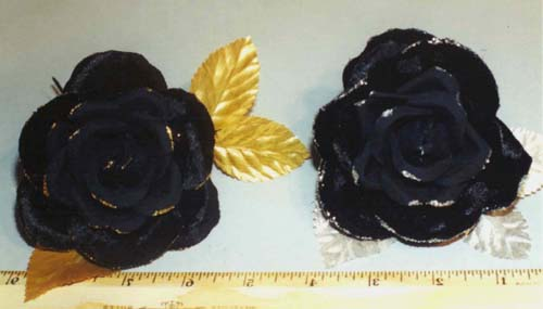 Velvet Rose with Glitter Edge for hat trim
