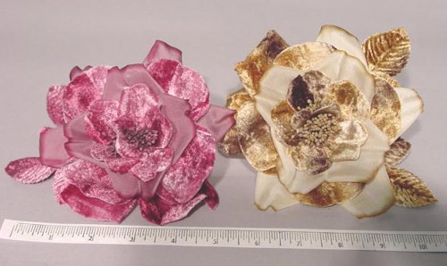 Velvet and Silk Blossom hair accessory