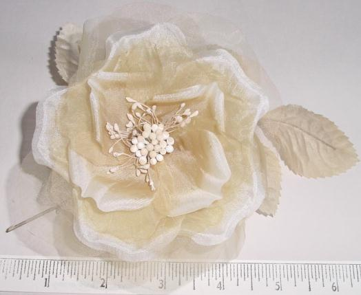 Silk & Organdy Blossom church hat flower