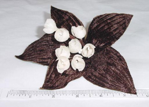 Velvet Lily Of The Valley millinery supply trim