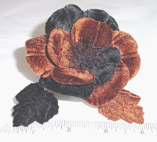 Two Tone Velvet Blossom for hat trim