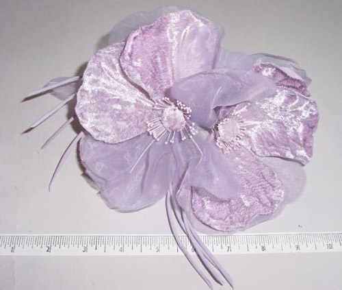 Velvet & Organdy Blossom By 2 millinery supply trim