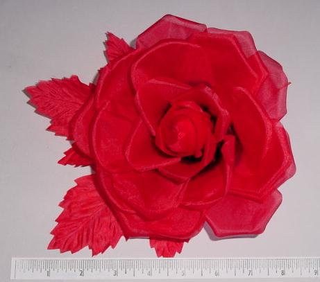 Large Flat Rose flower pin or bridal