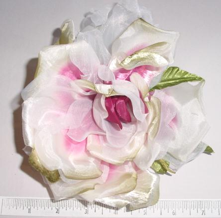 Large Rose church hat or bridal