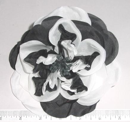 Two Color Rose millinery supply  flower