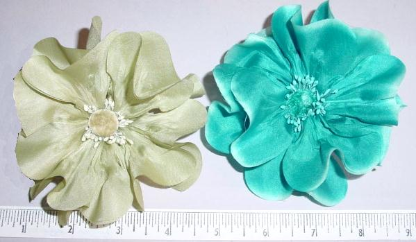 Silk Small Poppy for childrens head bands