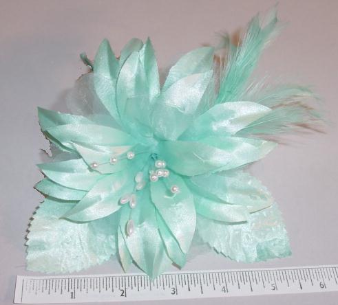 Pointed Blossom With Pearls & Feathers  dress, hat or hair accessory