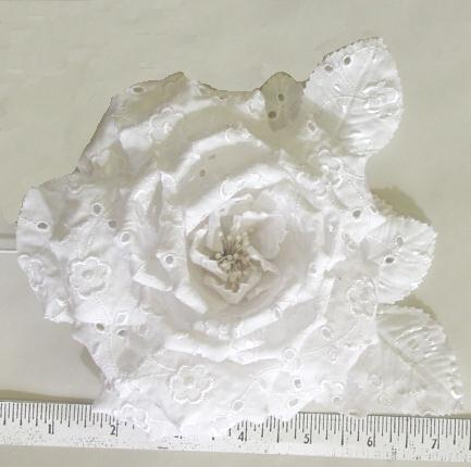 White Eyelet Rose spring delight dress manufactures
