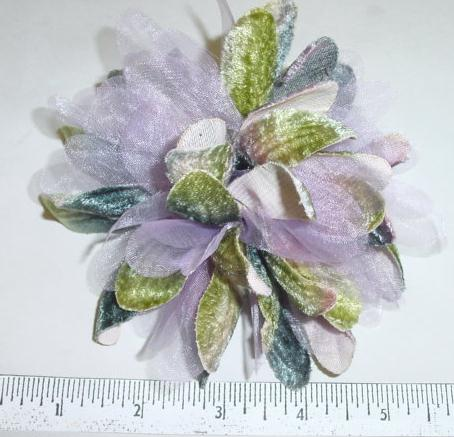 Velvet & Organdy Mum hat trim or hair accessories
