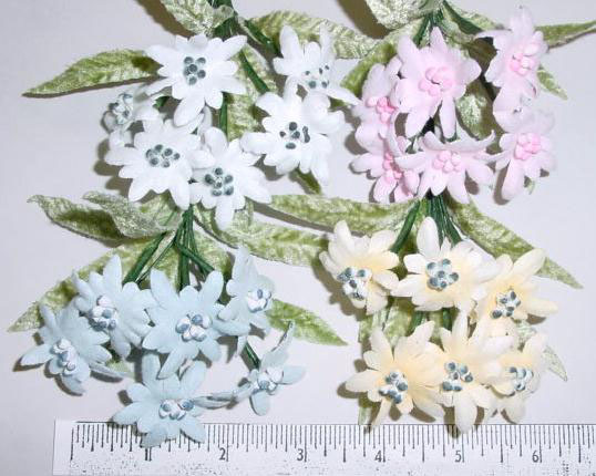 Edelweiss By 6 floral trim perfect for bridal bouquet or flower girl dress