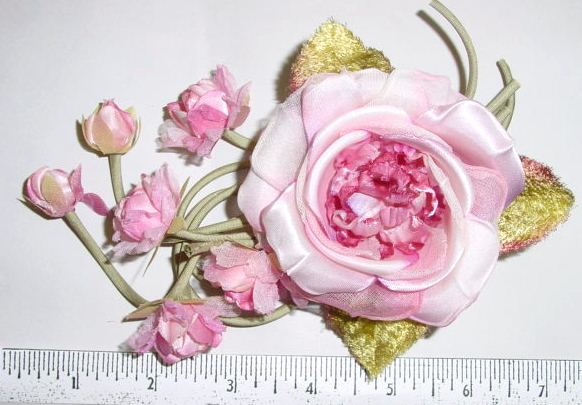 Wild Rose with Hanging Buds.millinery supply or bridal