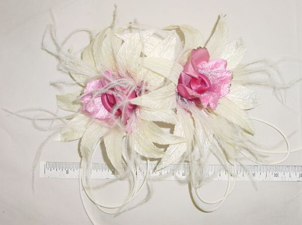 Orchid By 2 with Feathers & Tubing hair combs