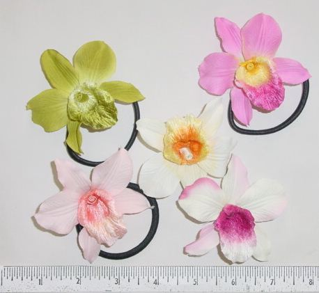 Orchid with Pony children;s hair accessory