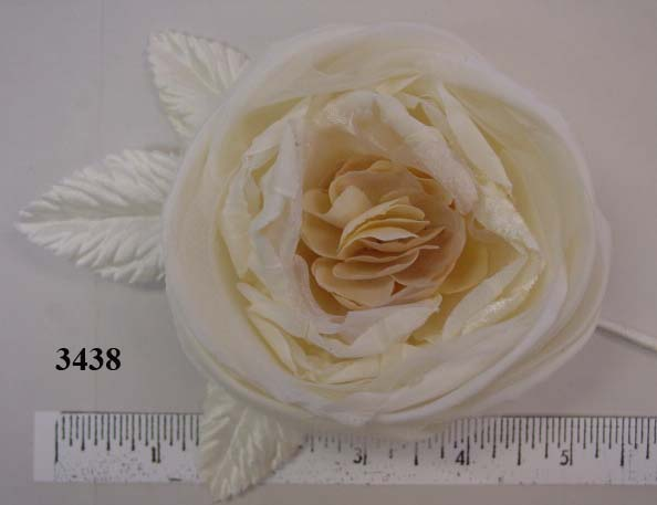 Flat Rose with crinkled center from Thailand dress trim