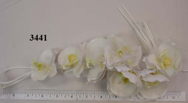 Phalaenopsis Orchid Wreath by 7 with buds & tubing  hat trim or bridal bouquet