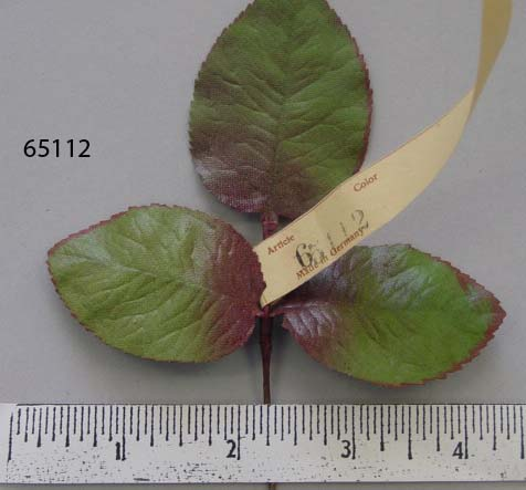 65112 Vintage Shaded Large Rose Leaf