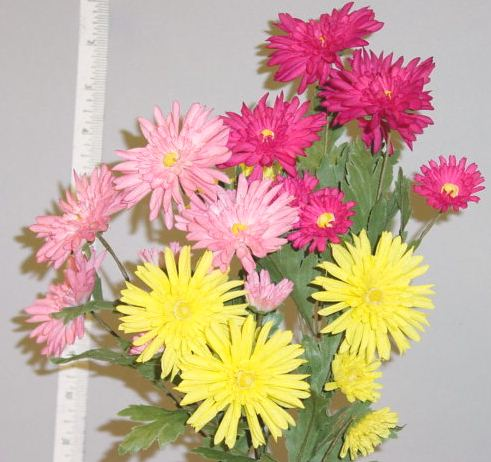 Aster Spray by 4 & Buds -- handcrafted in Czechoslovakia  for display