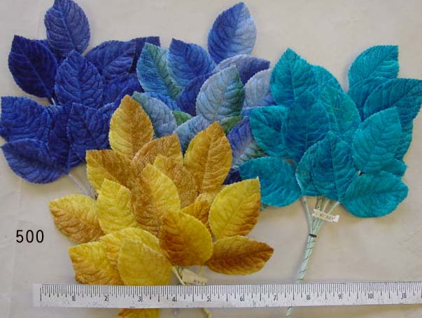 Vintage Velvet Leaf Spray from Japan