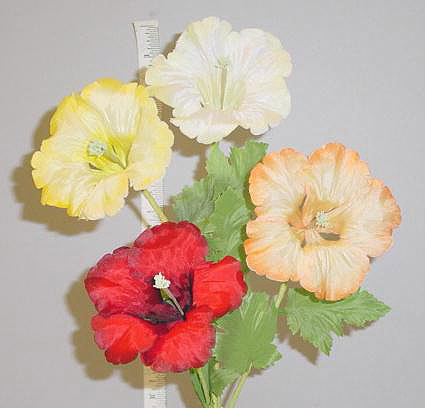 Double Petal Hibiscus -- large petals wired for tasteful shaping for home d