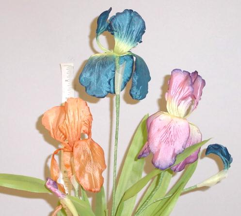 Double Petal Silk Iris  -- handcrafted in Germany for a finer, more artistic appearance