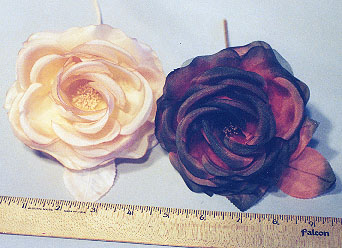 Large Silk & Organdy Cup Shaped Rose hat trim