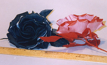 Double Petal Two Tone Silk Rose  millinery supply