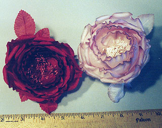 Cup Shaped Silk Rose millinery supply